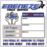 CUSTOM OIL CHANGE STICKERS, OIL CHANGE STICKERS, STICKERS