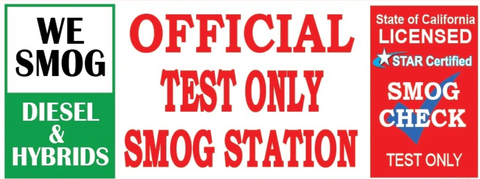 We Smog Diesel & Hybrids | Official Test Only Vinyl Banner