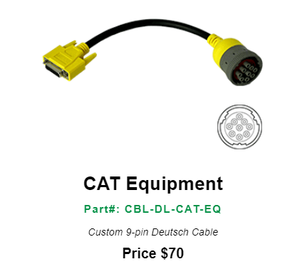 DrewlinQ CAT Equipment--Part#: CBL-DL-CAT-EQ