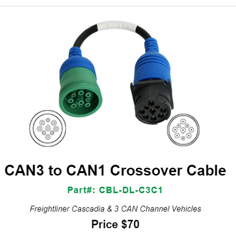 DrewlinQ CAN3 to CAN1 Crossover Cable--Part#: CBL-DL-C3C1