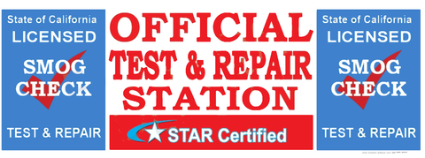 Star Certified Official Smog Station Test & Repair | Vinyl Banner