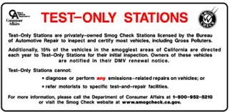 "TEST ONLY STATIONS SIGN, 13"" X 24"""