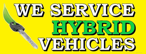 We Service Hybrid Vehicles | Vinyl Banner
