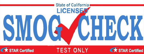 Smog Check | Star Certified | Test Only (White) | Vinyl Banner