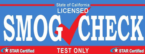 Smog Check Banner | Star Certified | Test Only | Vinyl Banner