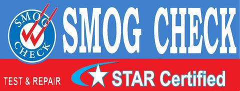 Smog Check | Star Certified | Test & Repair (Blue) | Vinyl Banner