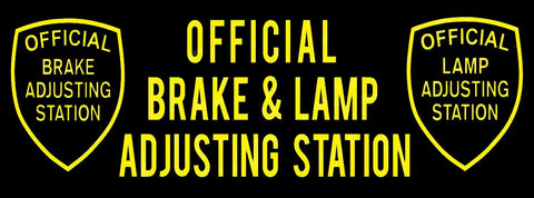 Official Brake and Lamp (Black) | Vinyl Banner
