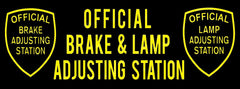 Official Brake and Lamp (Black) | Vinyl Banner SMOG BANNER