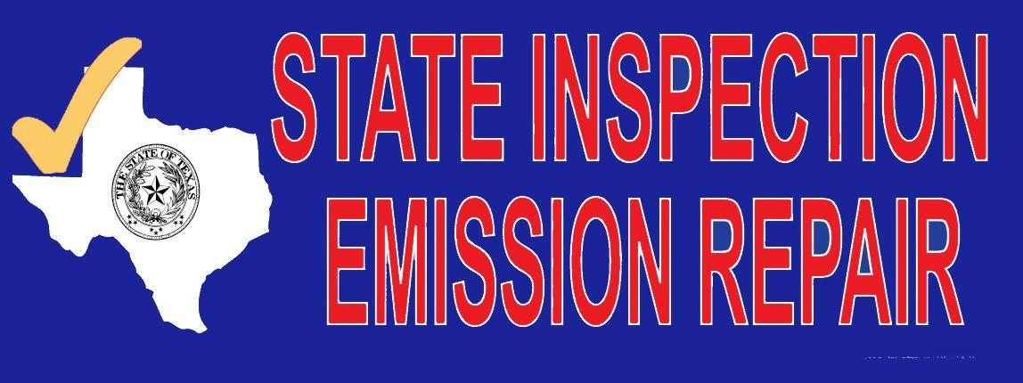 Texas - State Inspection Emission Repair | Vinyl Banner