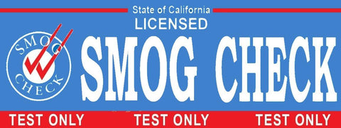 Smog Check | Test Only Banner | Vinyl Banner