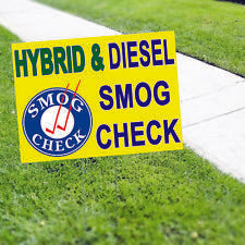 Hybrid & Diesel Smog Check Yard Sign