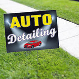 CAR DEALERSHIP SIGNS AUTO DETAILING Yard Sign SMOG SIGN