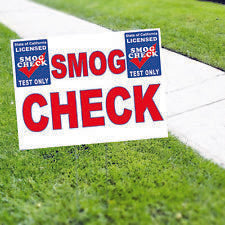 Smog Check Licensed Test only Coroplast Yard Sign