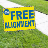 CAR DEALERSHIP SIGNS ASE FREE ALIGNMENT Yard Sign