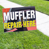 MUFFLER REPAIR HERE  Yard Sign CAR DEALERSHIP SIGNS