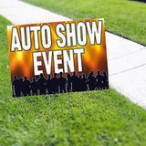 Auto Show Event! Yard Sign