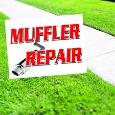 MUFFLER REPAIR  Yard Sign AUTO DEALERSHIP SIGNS