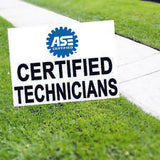 ASE Certified Technicians Vinyl Yard Sign