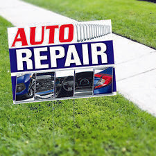 Auto Repair Automotive Business Yard Sign