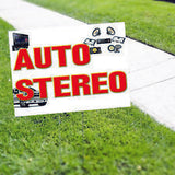 Auto Stereo Installation Yard Sign