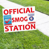 Official Smog Station Smog Check Yard Sign