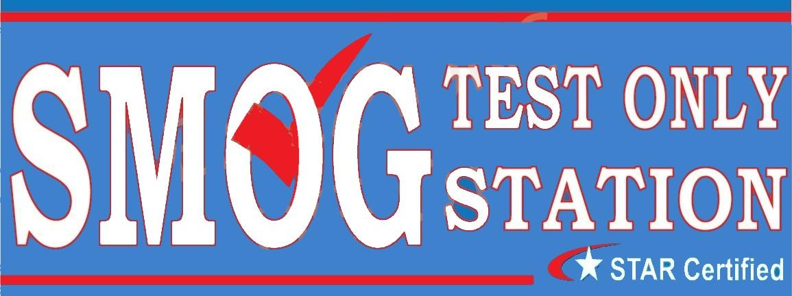 Smog Check | Star Certified | Test Only Station | Vinyl Banner