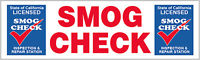 Star Certified Smog Check Inspection & Repair Banner, Several Sizes to Choose From