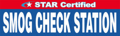 Star Certified Smog Check Station Banner