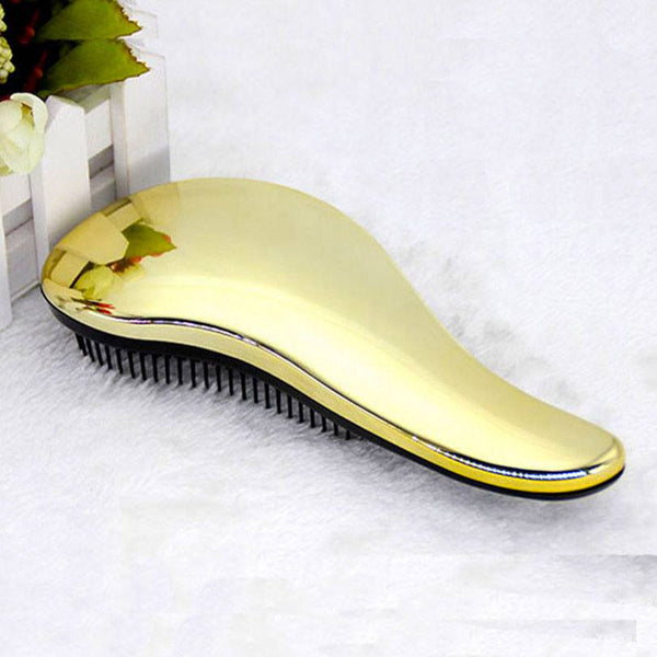 Electroplated Anti-static Detangling Hair Comb
