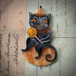 Lolligager Pumpkin Cat Brooch