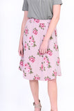 Lissa Rose Floral Striped Skirt