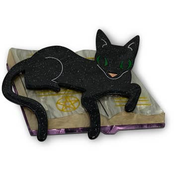 Furmiliar Pyewacket Halloween Cat Brooch