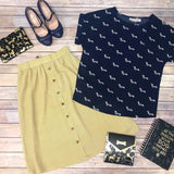 Wiener Dog Top - Navy