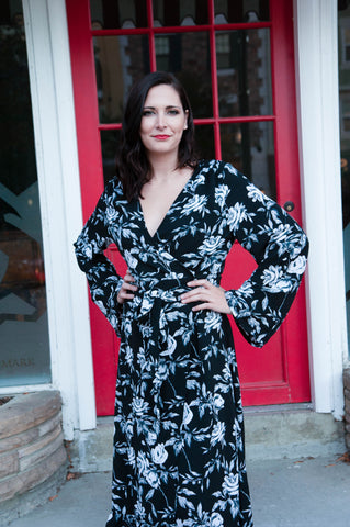 Kate Black Floral Maxi Dress