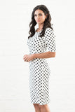 Vera Polka Dot Pencil Dress