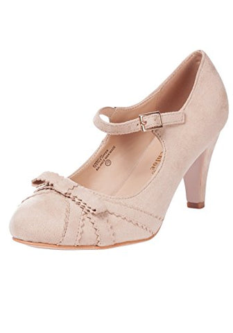 Gabby Vintage Shoe with Bow - Nude
