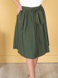 Aria Army Green Tie Skirt