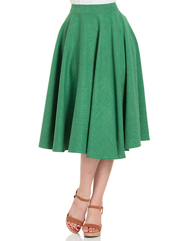 Abigail Green Circle Skirt
