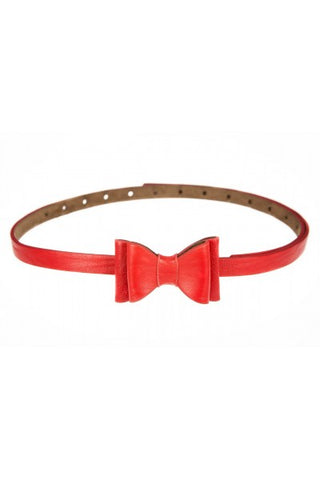 Bow Belt  - Red