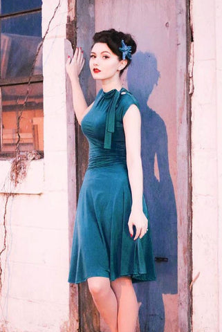 Bridget Bombshell Dress - Teal