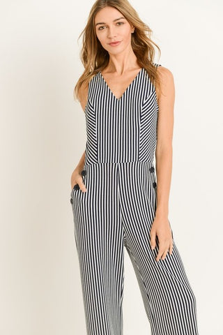 Nautical Stripe Jumpsuit