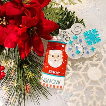 Snow Spray Christmas Brooch