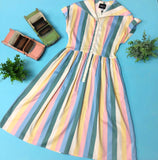 Judy Striped Swing Dress
