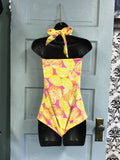 Lemon Print Swim Suit
