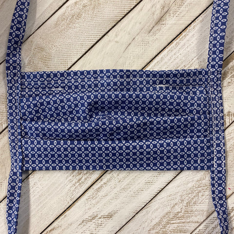 Face Mask - Navy Print