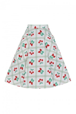 Sweet as Cherry Pie Picnic Swing Skirt