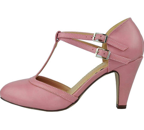 Elaine Vintage Shoe - Dusty Pink