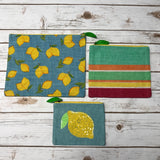 Jute Lemon Pouches Set/3