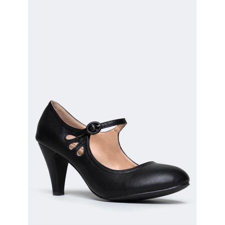 Kayla Vintage Shoe - Black