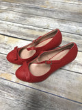 Gabby Vintage Shoe with Bow - Red